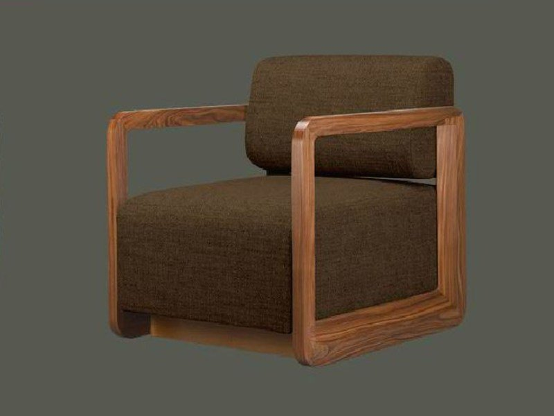 Upholstered armchair with removable cover LIETA - LINFA DESIGN