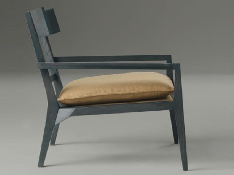 Solid wood armchair with armrests TERESA by LINFA DESIGN