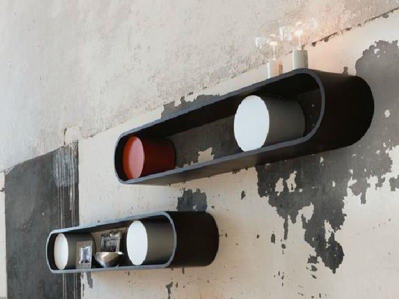 Multi-layer wood wall shelf TANK - LINFA DESIGN