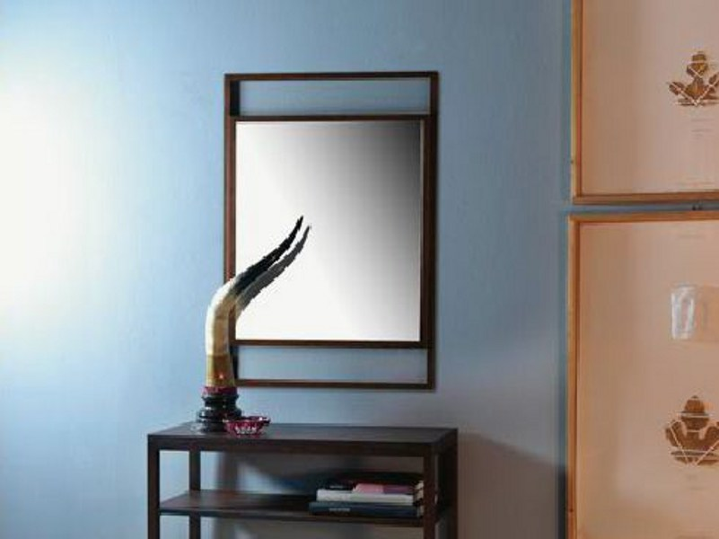 Wall-mounted framed rectangular mirror DORIAN by LINFA DESIGN