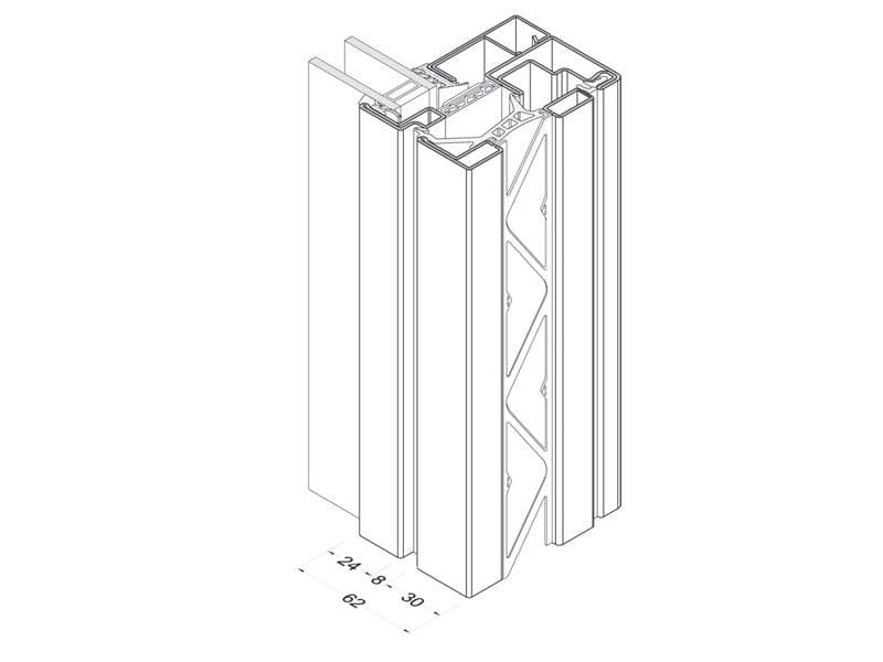 finestra a taglio termico forster unico ferrofinestra forster. Black Bedroom Furniture Sets. Home Design Ideas