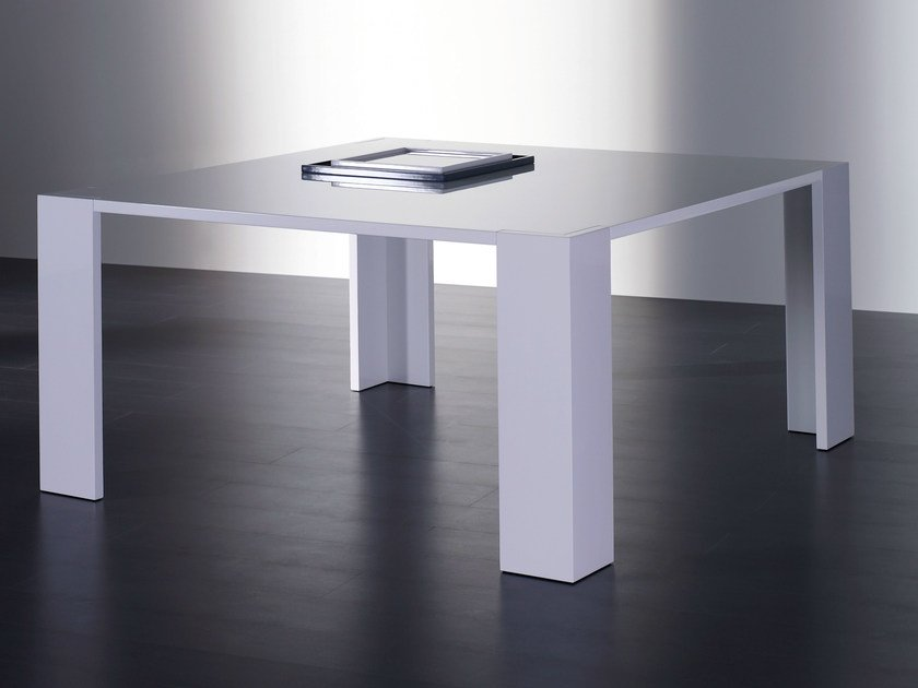 Square wooden dining table BRANDO | Square table - Meridiani