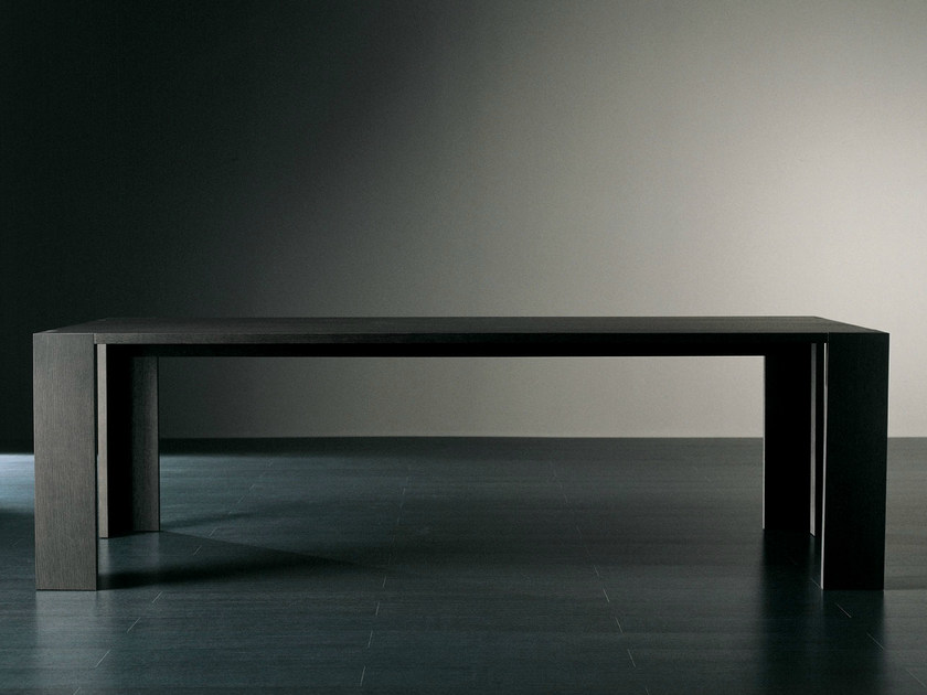 Rectangular wooden dining table BRANDO | Rectangular table - Meridiani