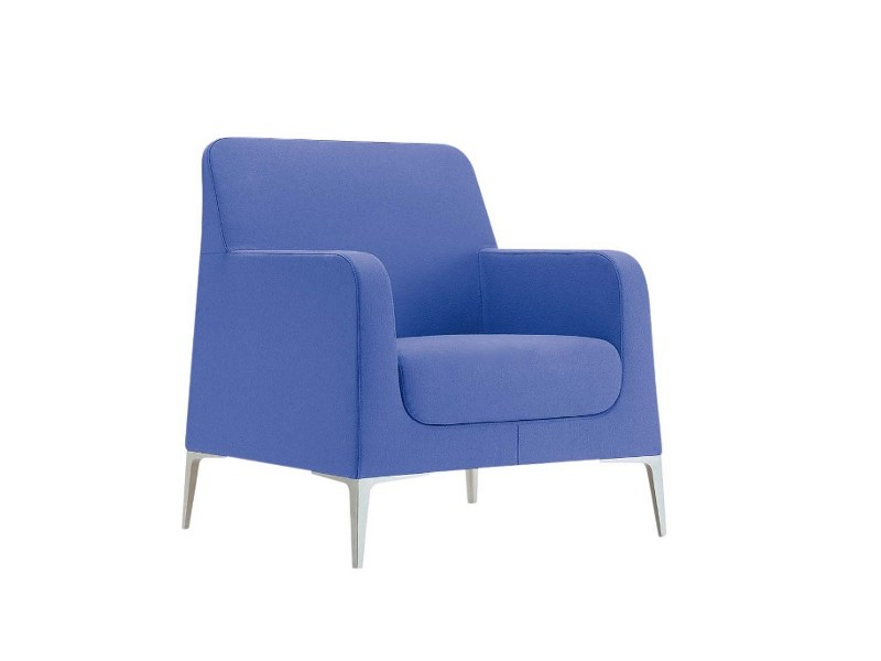 Upholstered armchair with armrests ALPHABET - GAMMA | Armchair - Segis