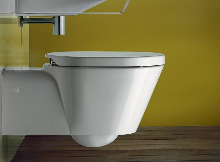 Wall-hung ceramic toilet VERSO COMFORT 70 | Toilet - CERAMICA CATALANO