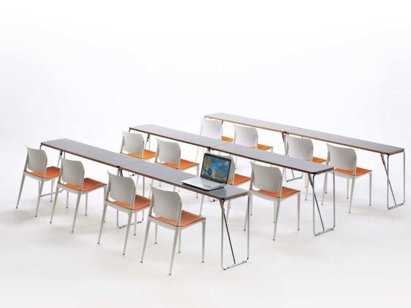 Klappbarer tisch aus stahl fold up by segis design lucci for Design tisch stahl