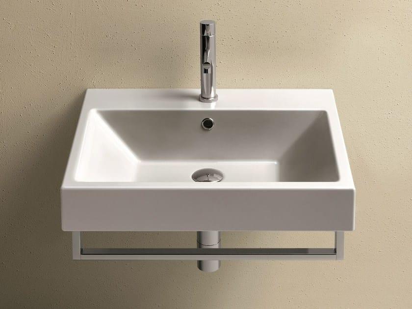 Wall-mounted ceramic washbasin ZERO 60   Washbasin - CERAMICA CATALANO