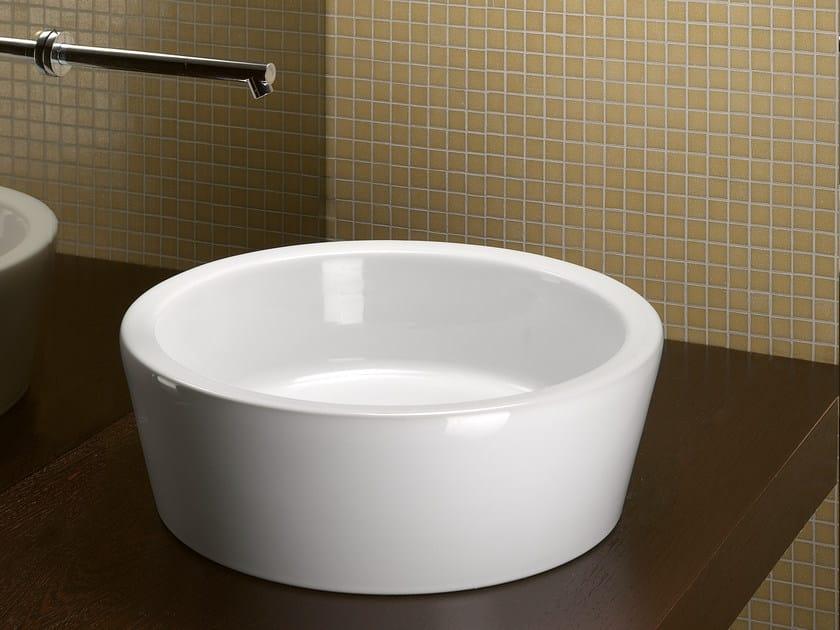 Countertop washbasin ZERO TONDO 45 - CERAMICA CATALANO