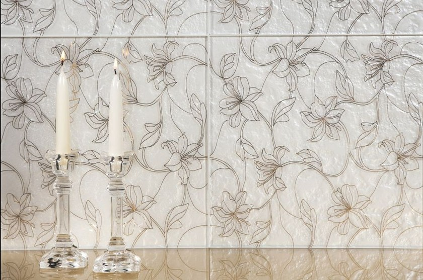 Indoor glass wall tiles FIORI - Brecci by Eidos Glass