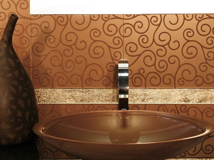 Indoor glass wall tiles VOLUTE by Brecci Glass