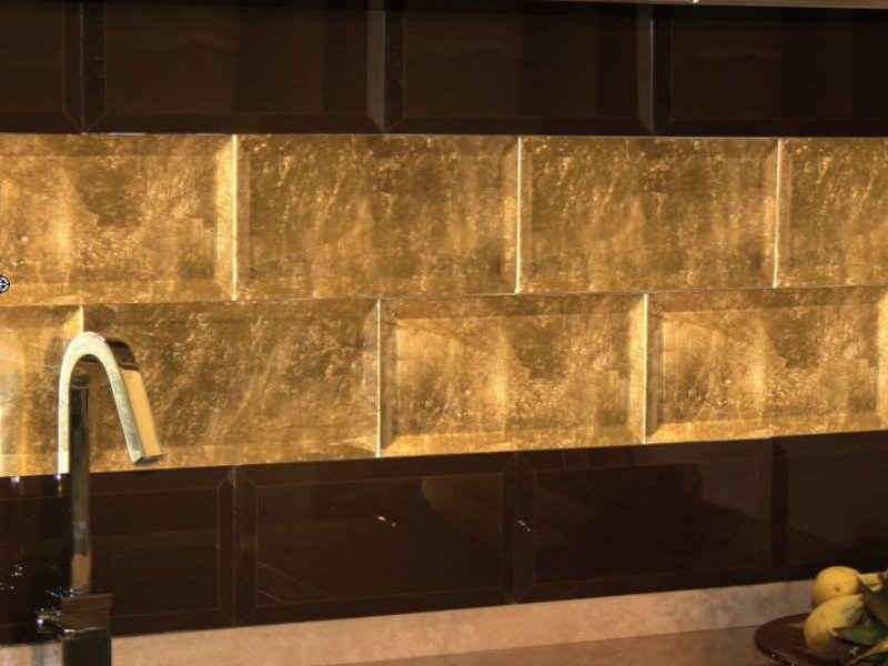 Indoor glass wall tiles DIAMANTE by Brecci Glass