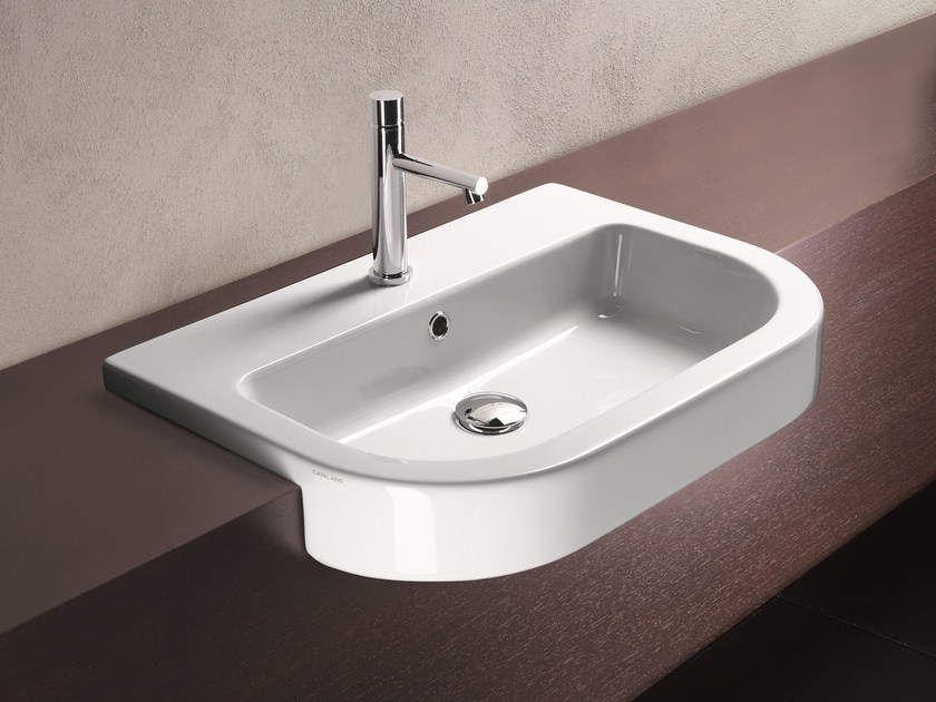 Zero tondo 65 washbasin by ceramica catalano design cdc for Ceramica catalano