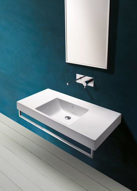 Wall-mounted ceramic washbasin ZERO DOMINO 100 | Washbasin - CERAMICA CATALANO