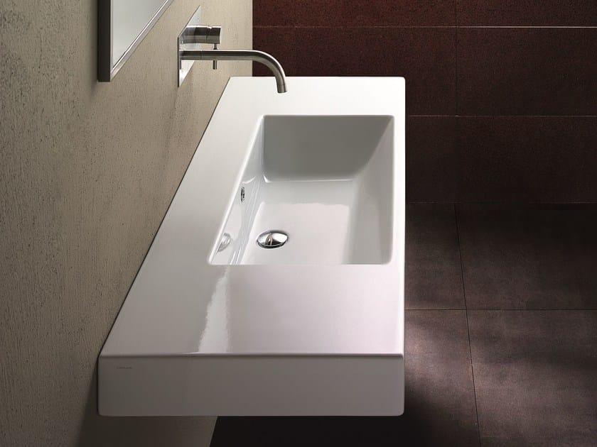 Wall-mounted ceramic washbasin ZERO DOMINO 125 | Washbasin - CERAMICA CATALANO