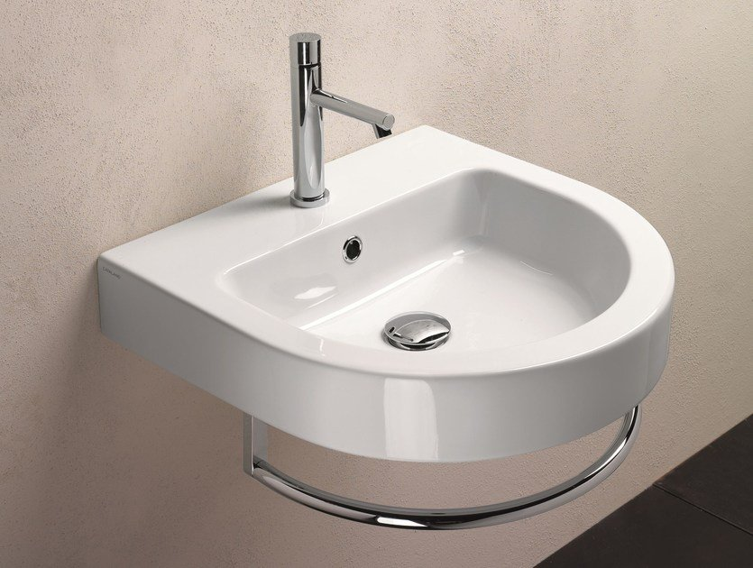 Wall-mounted washbasin ZERO TONDO 50 | Washbasin - CERAMICA CATALANO