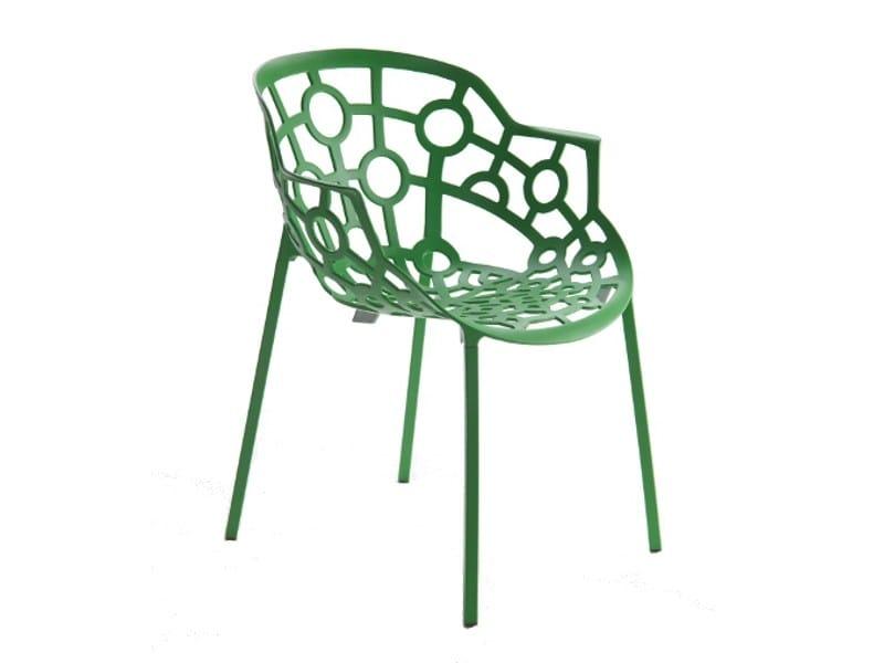 Stackable aluminium chair POLO | Stackable chair - Segis