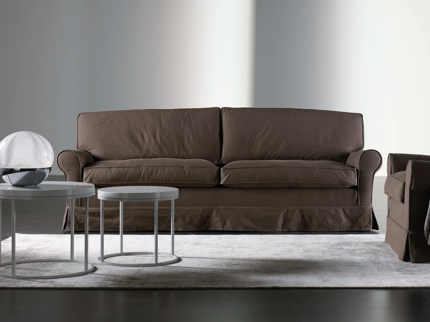 Sofa with removable cover CONNY | Sofa - Meridiani