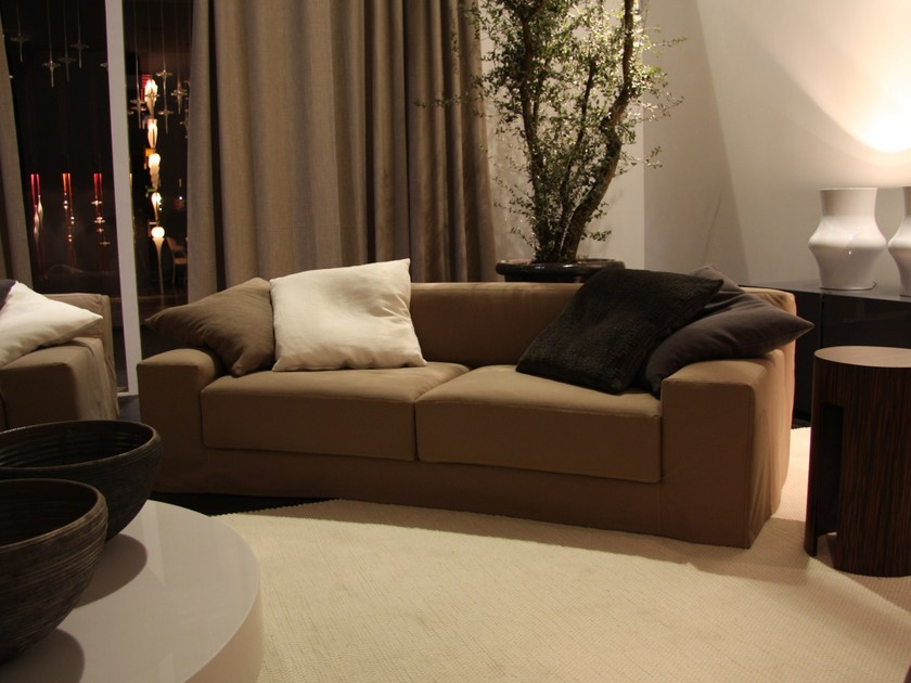 Sofa with removable cover FRIEMAN GHOST - Meridiani