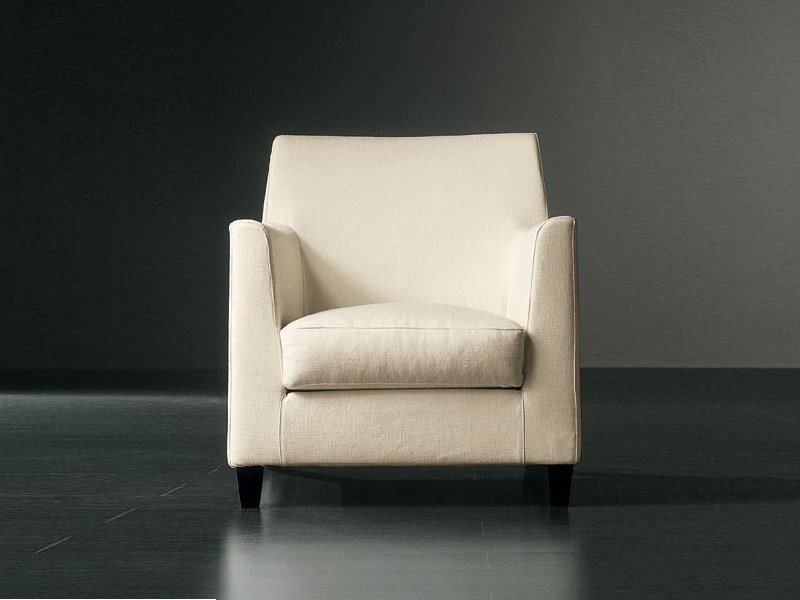 Armchair with removable cover BISSÈ | Armchair - Meridiani