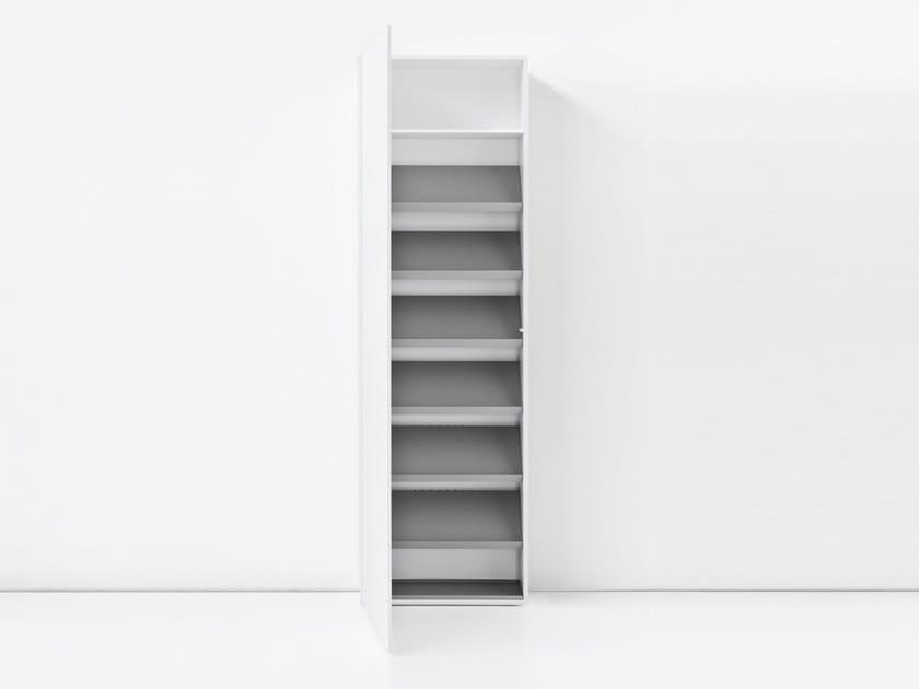 MDF shoe cabinet BLIO | Shoe cabinet - Kristalia