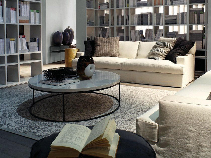 Low round coffee table BLOM | Coffee table - Meridiani