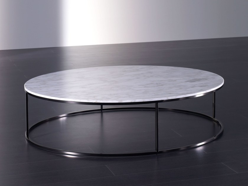 Low round marble coffee table BLOM | Marble coffee table - Meridiani