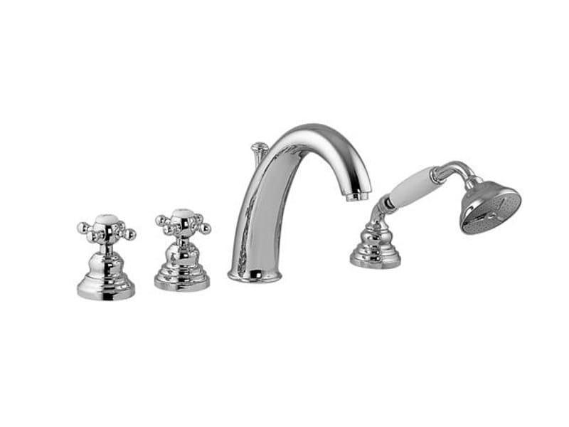 4 hole bathtub set with hand shower VIVALDI | Classic style bathtub set - Gattoni Rubinetteria