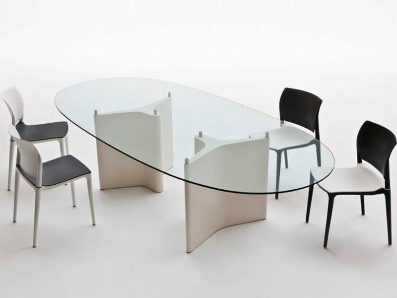 tavolo ovale in legno e vetro tee tavolo ovale segis