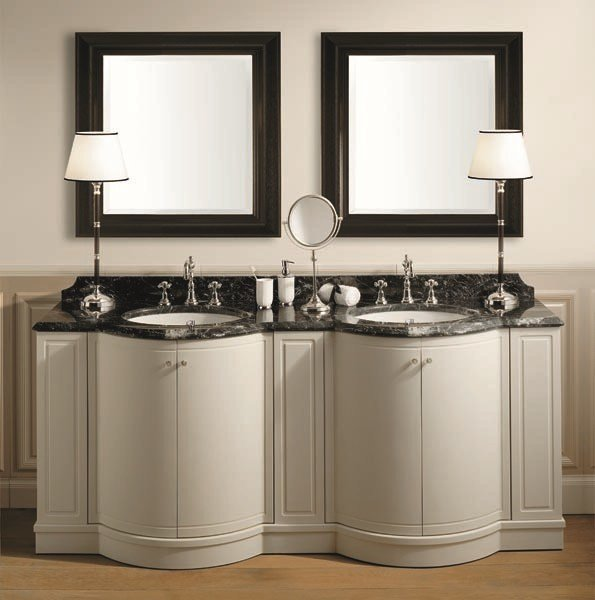 Double wooden vanity unit with doors BOSTON 200 | Double vanity unit by GENTRY HOME