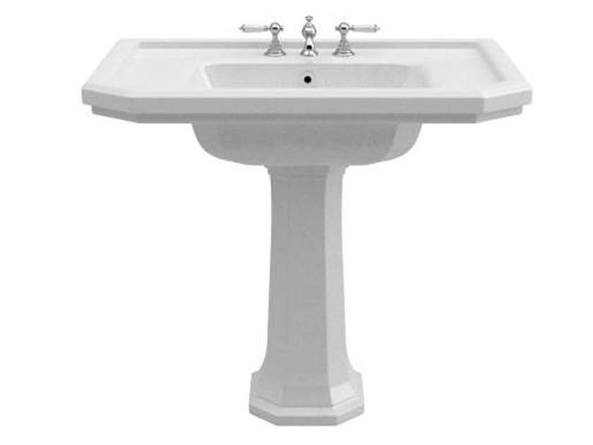Pedestal ceramic washbasin CLAREMONT | Ceramic washbasin - GENTRY HOME