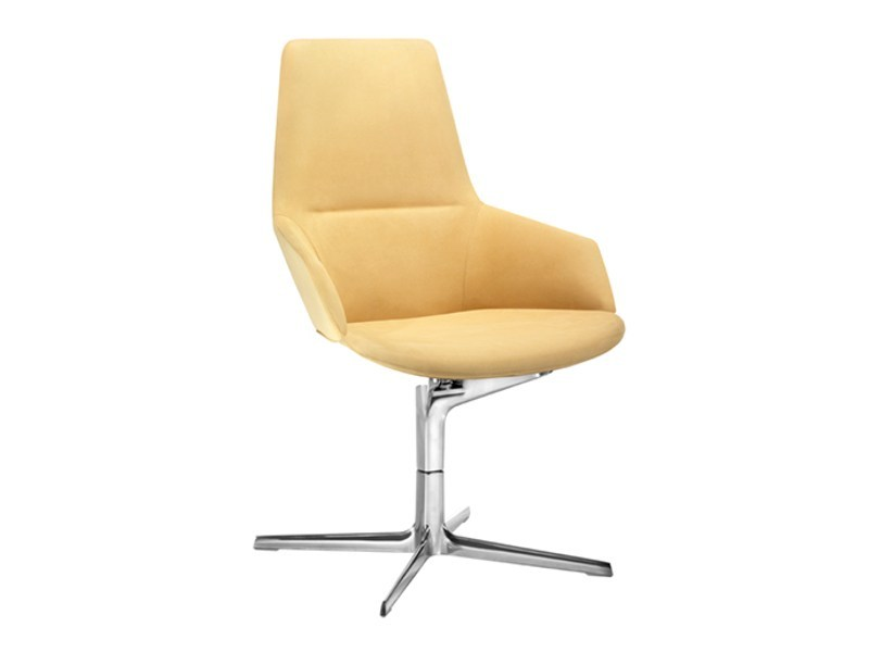 Fabric task chair with 4-Spoke base with armrests ASTON | Task chair by arper