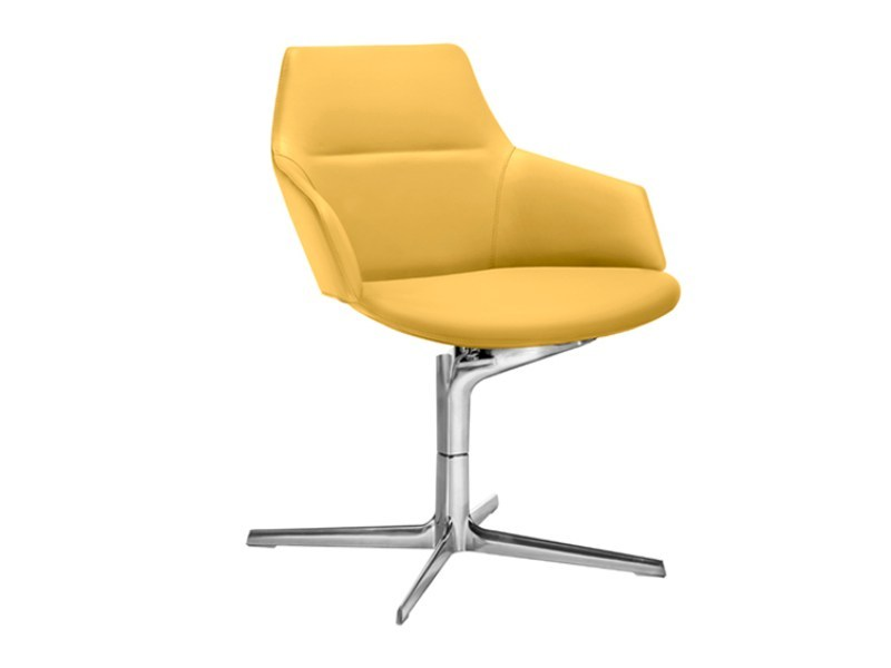 Swivel task chair with 4-Spoke base with armrests ASTON | Task chair with 4-Spoke base by arper