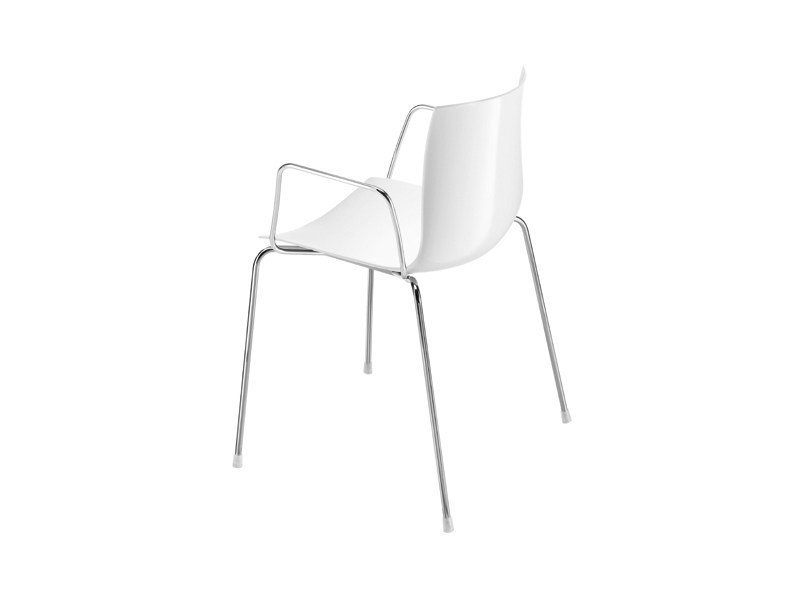 Stackable chair with armrests - CATIFA 46 - 4 gambe con braccioli