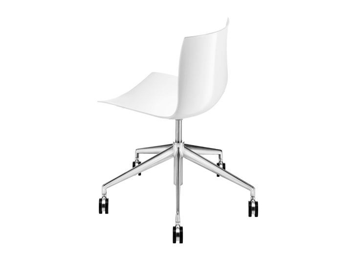 Chair with 5-spoke base with casters CATIFA 46 | Chair with 5-spoke base by arper