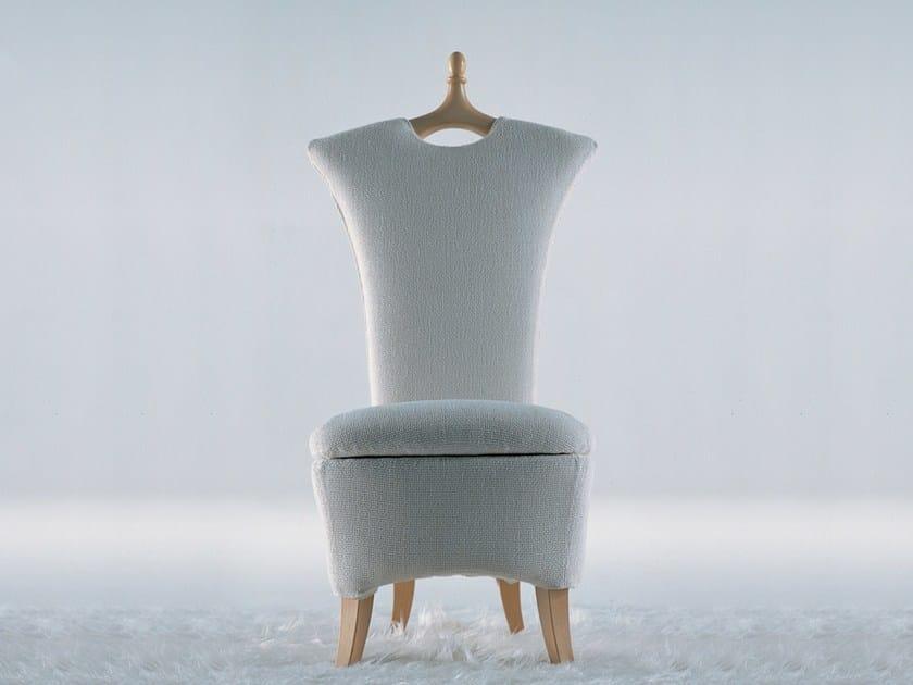 Fabric armchair with removable cover ANCELLA - GIOVANNETTI COLLEZIONI