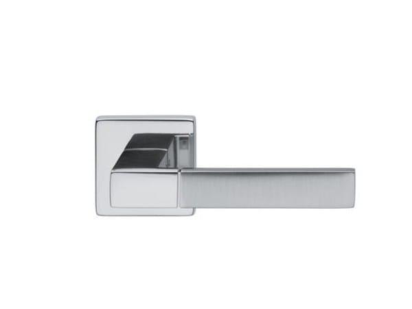 Brass door handle with lock EDRA-B 02 - dnd by Martinelli