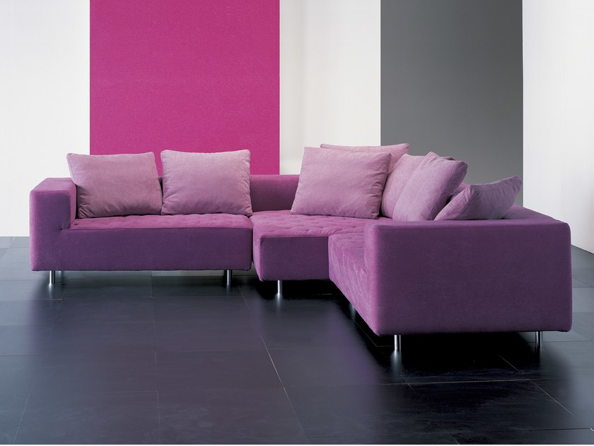 Sectional fabric sofa FRIENDS LIGHT - GIOVANNETTI COLLEZIONI