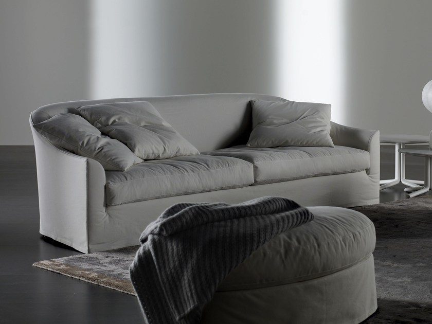 Sofa with removable cover LENNY | Sofa by Meridiani