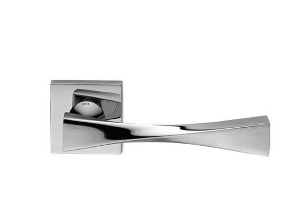 Brass door handle with lock TWIST 02 - dnd by Martinelli