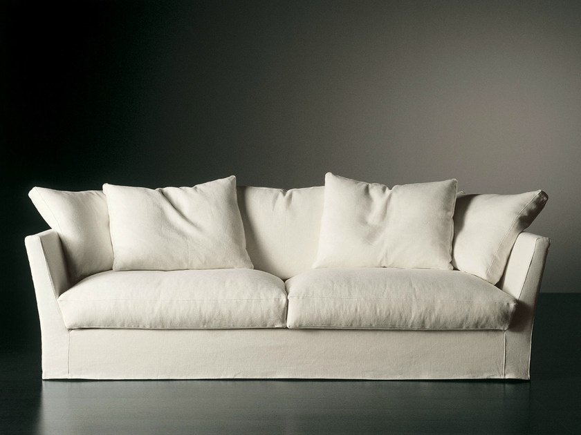 Upholstered sofa with removable cover