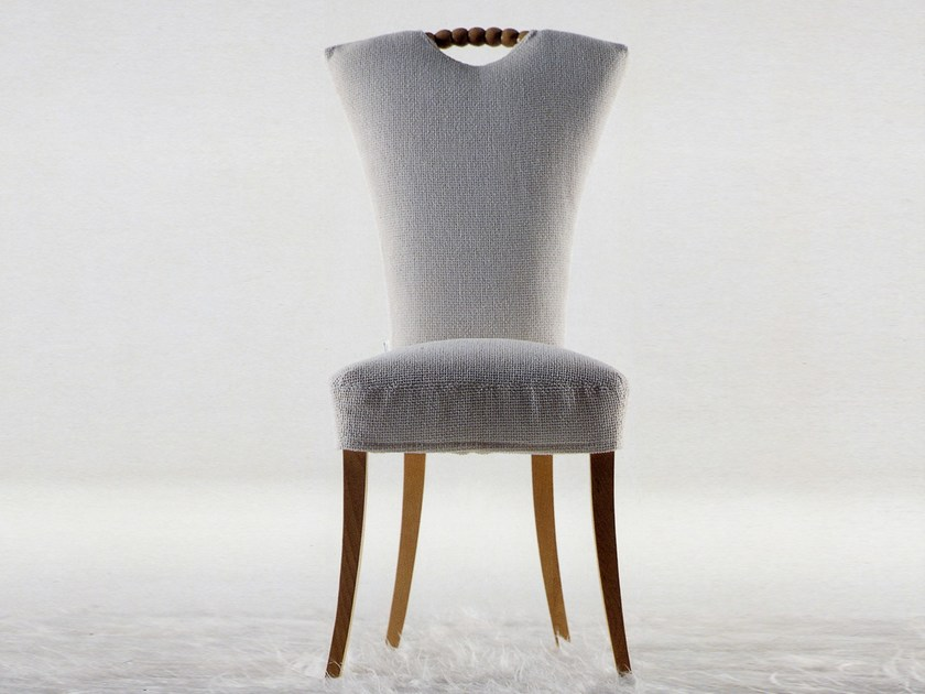 Upholstered chair with removable cover LUIGIA by Giovannetti