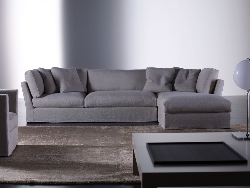 Modular sofa with removable cover QUEEN | Modular sofa by Meridiani