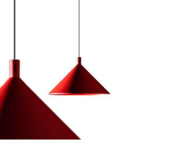 Direct light pendant lamp CONO by Martinelli Luce