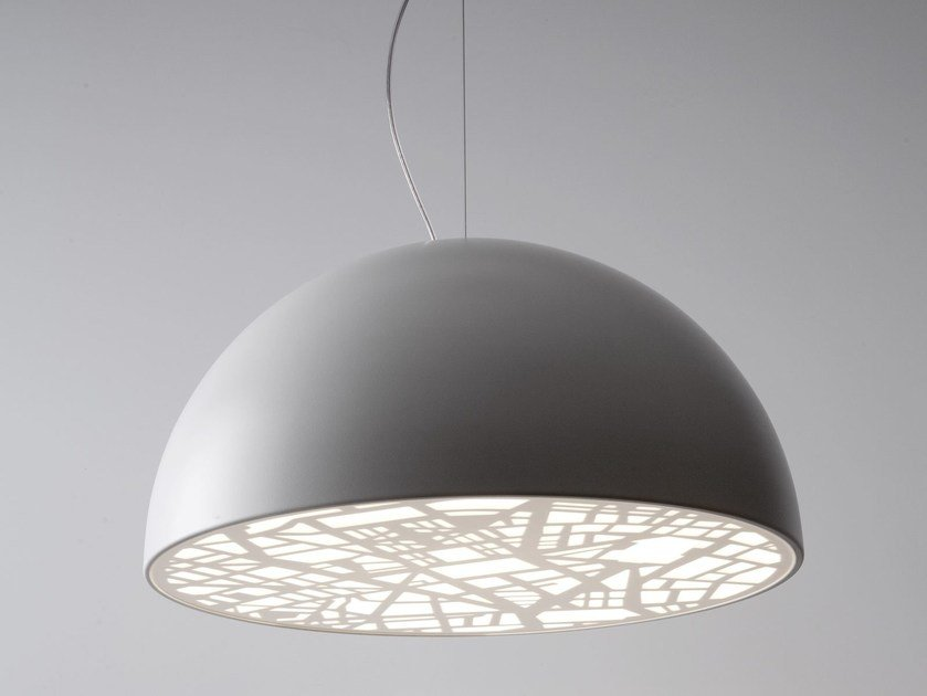 Design direct light fluorescent aluminium pendant lamp