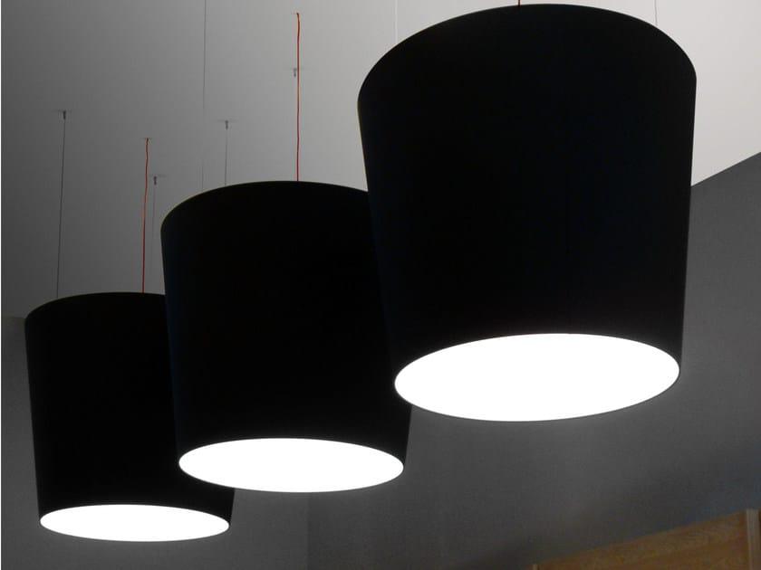 Direct-indirect light pendant lamp - Lampada a sospensione a luce diretta e indiretta fluorescente in alluminio design