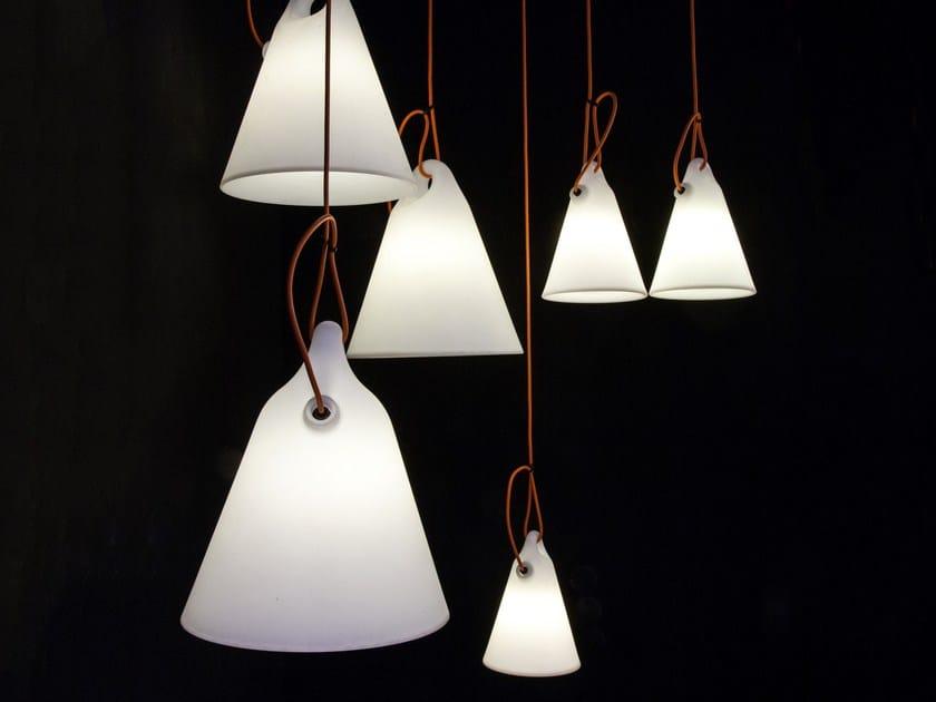 Fluorescent polyethylene pendant lamp TRILLY - Martinelli Luce