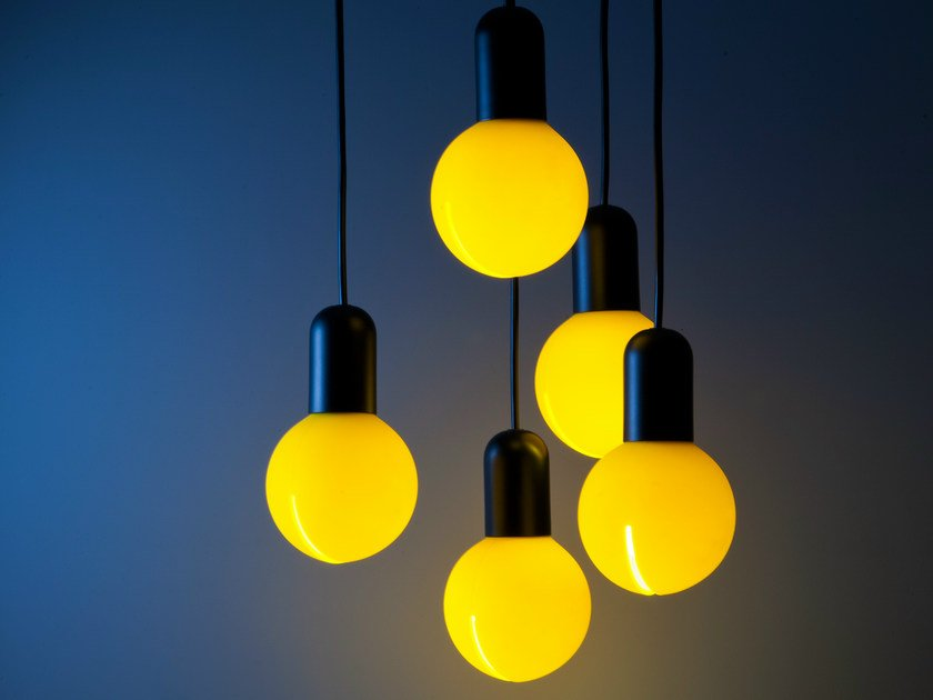 Silicone pendant lamp O! by Martinelli Luce