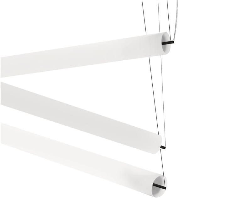 Design fluorescent polycarbonate pendant lamp