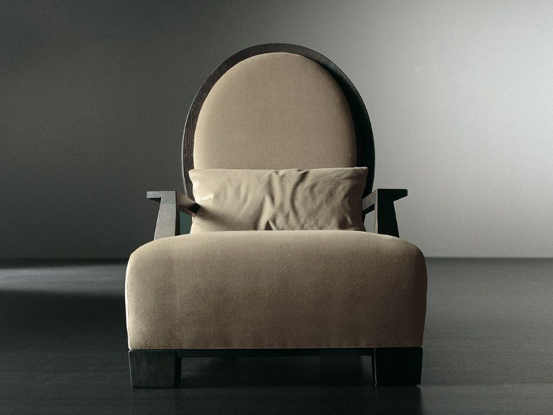 Bergere upholstered armchair GABO by Meridiani