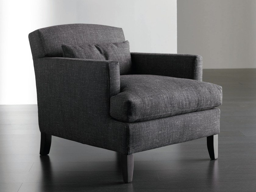 Upholstered armchair with removable cover DELLON by Meridiani